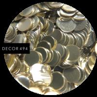 Пайетки серебро большие (арт. 494)
