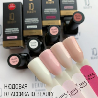 Камуфлирующее базовое покрытие каучуковое с кальцием (карамельный) IQ BEAUTY, 10мл