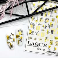 Cлайдер-дизайн #CF-26 gold Laque Stikers