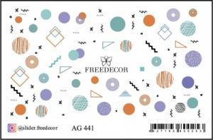 Слайдер-дизайн (имитация аэрографии) AG 441 FreeDecor