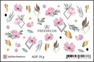 Слайдер-дизайн (имитация аэрографии+фольга) AGF 18s FreeDecor