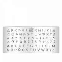 Пластина для стемпинга TAKIDA mini 02 Letter Collection
