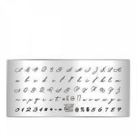 Пластина для стемпинга TAKIDA mini 03 Letter Collection