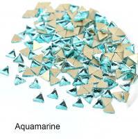 Стразы Треугольники-малыши 3х3 мм Aquamarine Nailstraz, (набор 5шт)