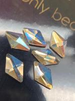 Стразы Пирамида 6х10 мм Crystal AB Nailstraz, (1шт)