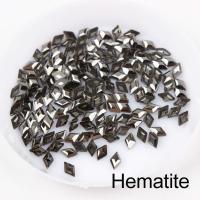 Стразы Ромбики-малыши 3х5 мм Hematite Nailstraz, (набор 5шт)