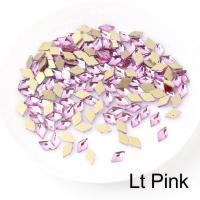 Стразы Ромбики-малыши 3х5 мм Pink Nailstraz, (набор 5шт)