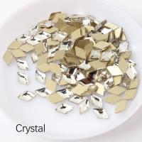 Стразы Ромбики-малыши 3х5 мм Crystal Nailstraz, (набор 5шт)
