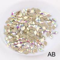 Стразы Ромбики-малыши 3х5 мм Crystal AB Nailstraz, (набор 5шт)
