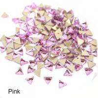 Стразы Треугольники-малыши 3х3 мм Pink Nailstraz, (набор 5шт)