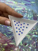 Стразы Треугольники-малыши 3х3 мм Cobalt Nailstraz, (набор 5шт)