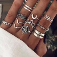 Набор винтажных колец для фото №33 (серебро)
