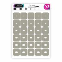 Трафареты для аэрографии на ногтях Овалы XL OneAir