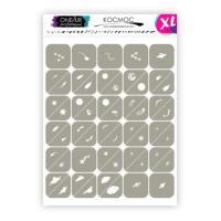 Трафареты для аэрографии на ногтях Космос XL OneAir