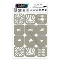 Трафареты для аэрографии на ногтях Поп-арт OneAir