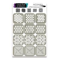 Трафареты для аэрографии на ногтях Мозаика OneAir