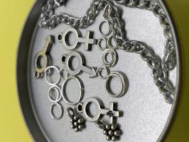 Пирсинг ногтей set 'Man&Woman' (серебро)