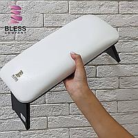 Подставка для рук Ellegance Pro (белая подушка/черный низ)