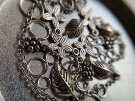 Пирсинг ногтей set 'Лесной' (серебро)