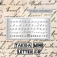 Пластина для стемпинга TAKIDA mini 03 Letter Collection (без пленки)