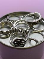 Набор винтажных колец для фото №64 (серебро)