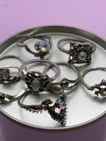 Набор винтажных колец для фото №42 (серебро)