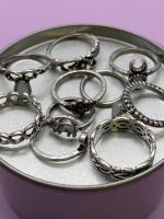 Набор винтажных колец для фото №43 (серебро)