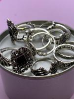 Набор винтажных колец для фото №44 (серебро)