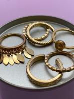 Набор винтажных колец для фото №51 (золото)