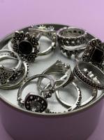 Набор винтажных колец для фото №50 (серебро)