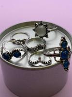 Набор винтажных колец для фото №57 (серебро)