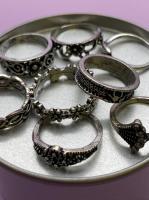Набор винтажных колец для фото №68 (серебро)