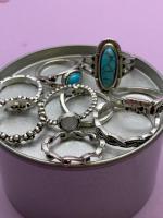 Набор винтажных колец для фото №47 (серебро)