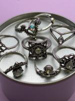 Набор винтажных колец для фото №55 (серебро)