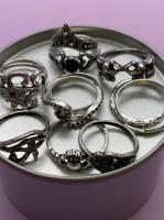 Набор винтажных колец для фото №56 (серебро)