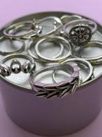 Набор винтажных колец для фото №59 (серебро)