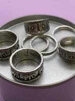 Набор винтажных колец для фото №66 (серебро)