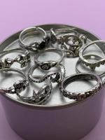 Набор винтажных колец для фото №63 (серебро)