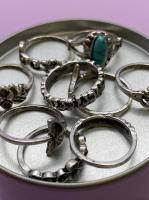 Набор винтажных колец для фото №67 (серебро)