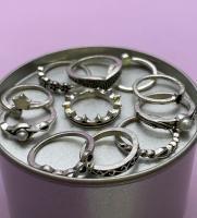 Набор винтажных колец для фото №70 (серебро)