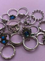 Набор винтажных колец для фото №71 (серебро)