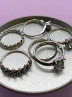 Набор винтажных колец для фото №52 (серебро)