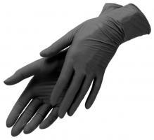 Перчатки нитрил-виниловые черные S Nitrimax, 50 пар