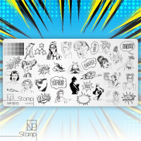 Пластина для стемпинга 0012 Comics NP Stampi