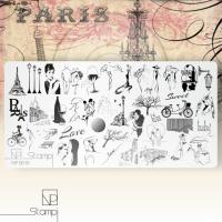 Пластина для стемпинга 0015 Paris NP Stampi