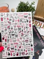 Слайдер-дизайн Сумасшедший розовый Crazy Shine Nails (арт 2031)