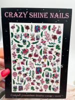 Слайдер-дизайн Цветы Crazy Shine Nails (арт 2032)
