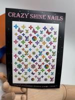 Слайдер-дизайн Луи Виттон LV Crazy Shine Nails (арт 2033)