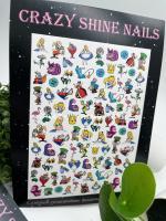 Слайдер-дизайн Алиса в стране чудес Crazy Shine Nails (арт 2035)
