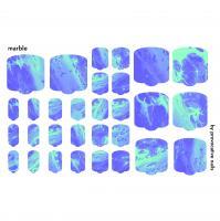 Термопленки для педикюра Marble By Provocative Nails
